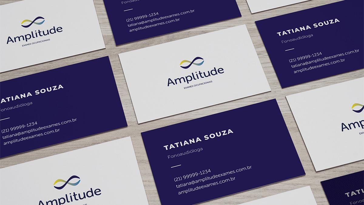 Amplitude - Exames Ocupacionais. Cartão de visita.
